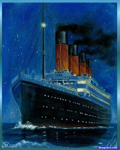 titanic boat real how to draw the titanic titanic step by step boats