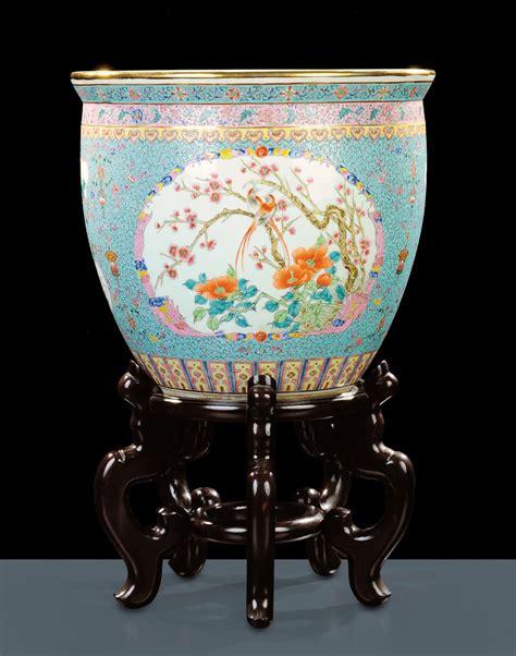 vaso porcellana vaso per pesci in porcellana cina arte orientale