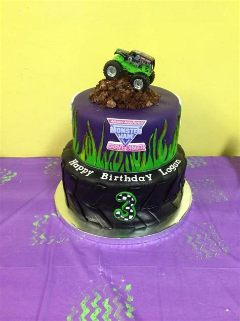 grave digger truck birthday supplies 25 best ideas about grave digger cake on