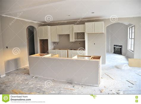 home interior brand unfinished kitchen in new home stock photo image 79572943