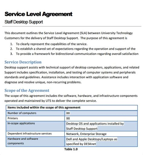 Service Level Agreement Template Pdfeports867 Web Fc2 Com Logistics Service Level Agreement Template