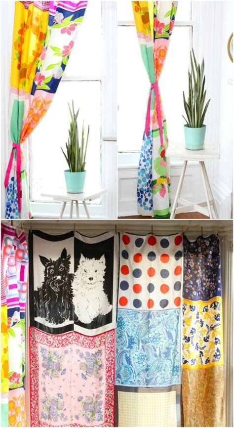 diy scarf curtains 30 brilliant repurposing ideas for old scarves that you