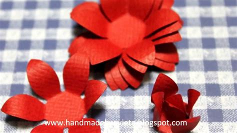 How To Make Handmade Flowers From Paper And Fabric - how to make handmade flower with paper shapers