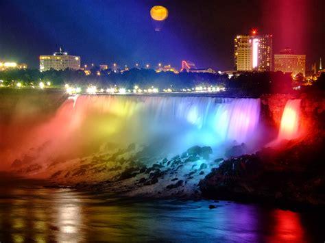 Niagara Falls At Night | world visits welcome to niagara falls colorful view in