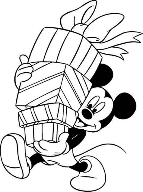 Free Coloring Pages Mickey Mouse Christmas | free disney mickey mouse coloring christmas pages for kids