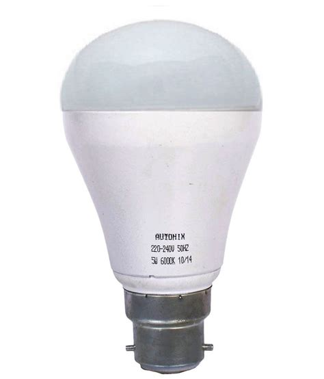 led light bulbs price comparison autonix led lights base b22 5watt led bulb warm white available at snapdeal for rs 250