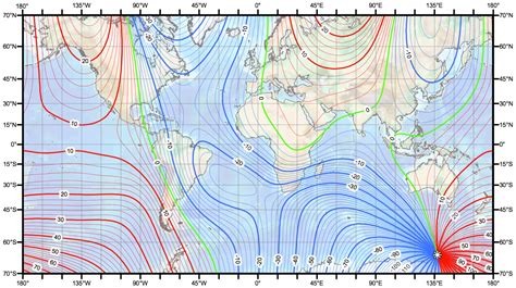 magnetic declination map geogarage world magnetic model updated