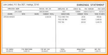 free pay stub template pdf autos post