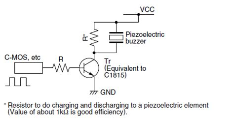 transistor driver circuit for buzzer avr driving piezo buzzer from mcu pin electrical engineering stack exchange