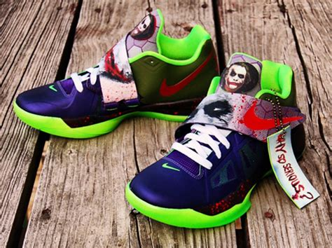 nike kd iv joker customs  gourmetkickz sneakernewscom