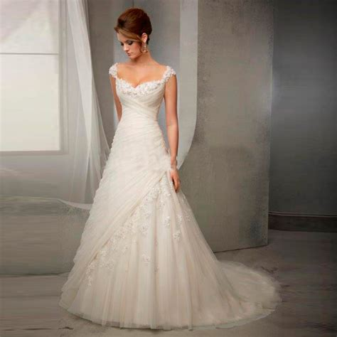 Elegante Hochzeitskleider by Aliexpress Buy Lace Wedding Dresses V Neck