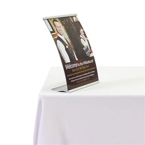 table top sign holder curved table top sign holder tabletop sign holder stands