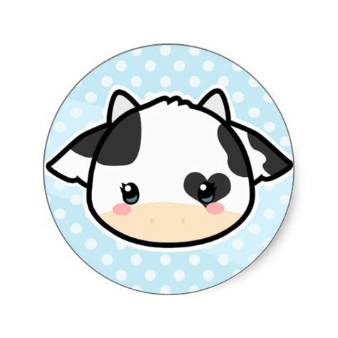 imagenes de vacas kawaii cow stickers and kawaii on pinterest