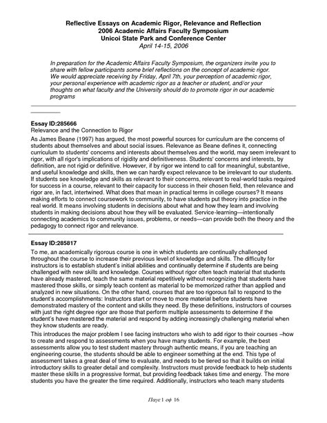 reflective essay introduction example college paper help