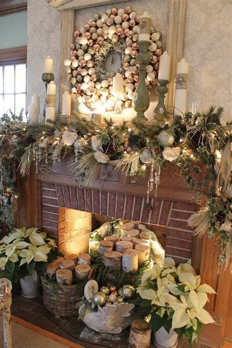 beautiful christmas mantel decor christmas decor