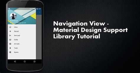 material design tutorial video esolutionsg andriod navigation view material design