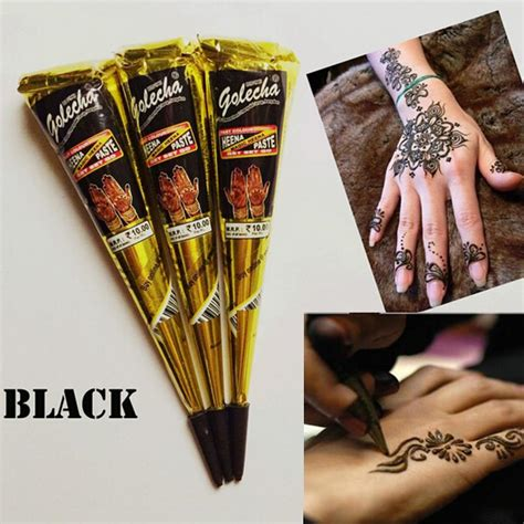 bewild temporary tattoo pen kit hand made tattoo pen golecha black indian henna tattoo