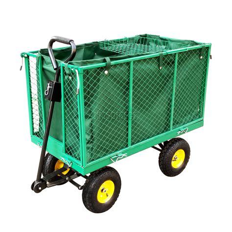 Trolly Keranjang Belanja Best Seller foxhunter heavy duty medium size garden trolley cart