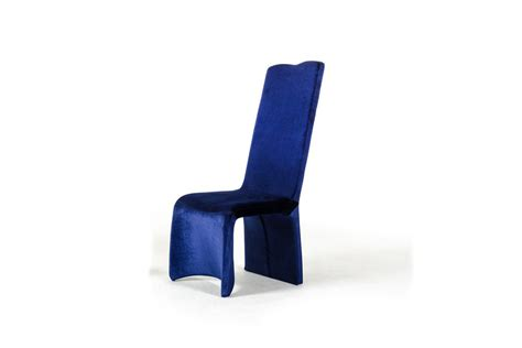 sapphire modern blue fabric dining chair set of 2
