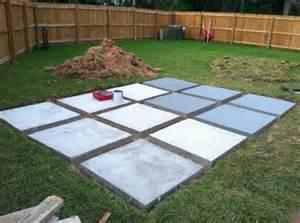 Diy Concrete Backyard A Roll Acosta Life Diy Back Yard Patio Part 3
