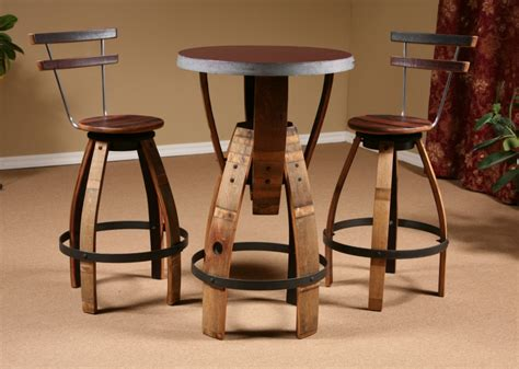 Wine Stave Bar Stools by Wine Barrel Stave Furniture Bar Height Table Stave Stool