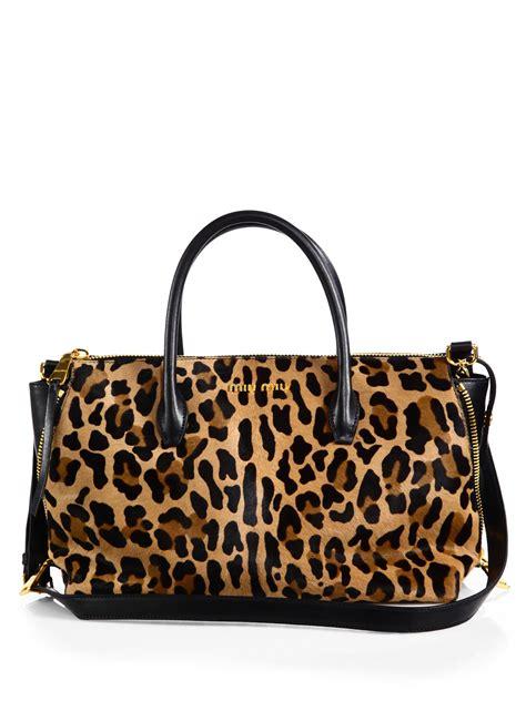 06 Bag Miu Miu 2047 miu miu cavallino leopardprint calf hair small bowler bag