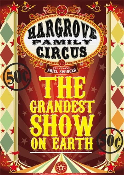 carnival themes and slogans night of mystery circus posters and other good stuff