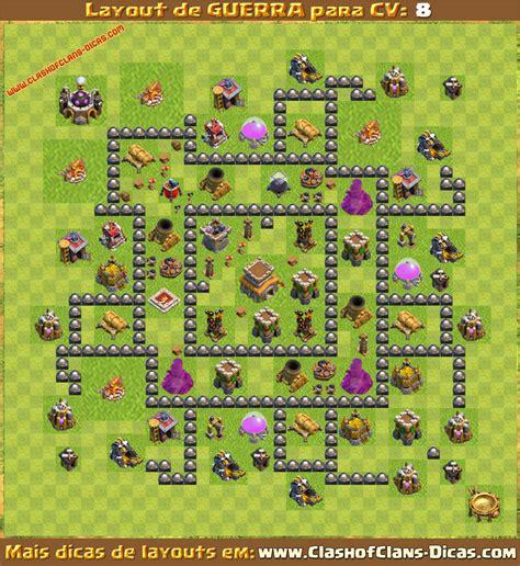 layout cv8 guerra layouts para cv8 em guerra clash of clans dicas