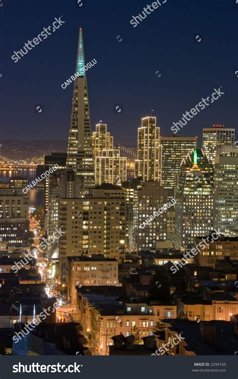 financial district christmas san francisco financial district at with lights stock photo 2294169