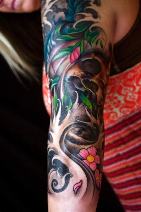 half sleeve girl tattoos arm sleeve tattoos for cool tattoos bonbaden