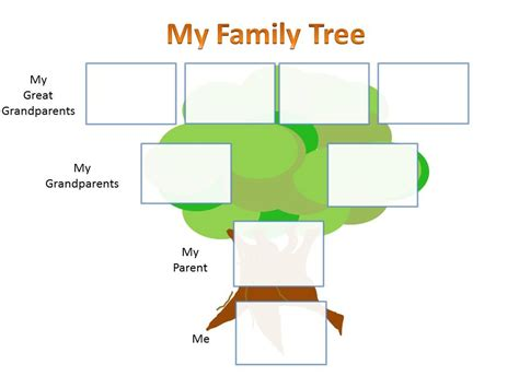 preschool family tree template family tree template for project