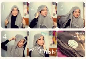 cara memakai jilbab modern yang cantik dan simple tutorial