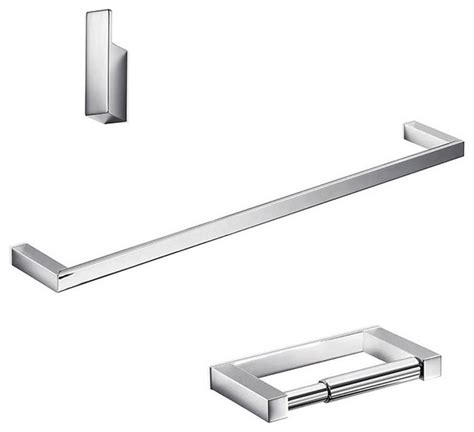polished chrome bathroom accessories ws bath collections divo bathroom accessory 3 piece set