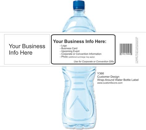 Real Estate Trade Show Giveaways - advertise your business with personalized water bottle labels and www customfavors com