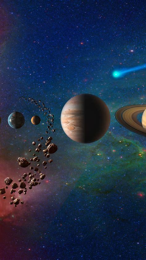 planets  solar system galaxy hd  wallpaper