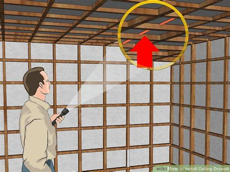 Ceiling Board Drywall by How To Install Ceiling Drywall 12 Steps With Pictures