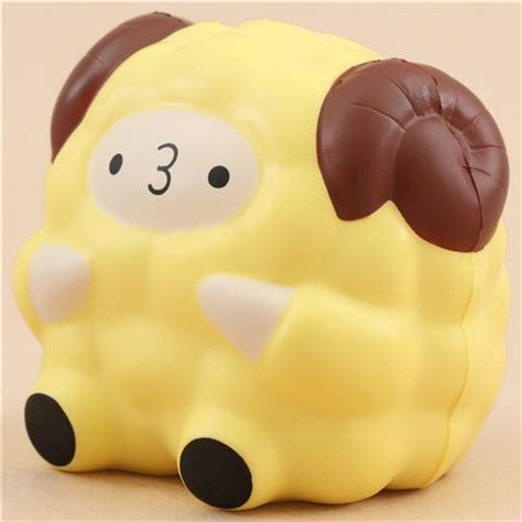 Diskon Medium Pop Pop Sheep By Pat Pat Zoo squishy mediano en forma de oveja carnero amarillo pop pop sheep de pat pat zoo squishy de