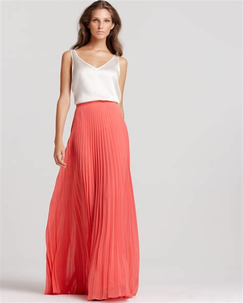 bohemian pleated maxi skirts womens 2014 summer