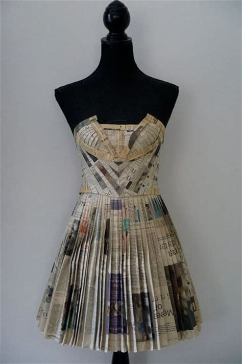Clothes Out Of Paper - the 25 best newspaper dress ideas on paper