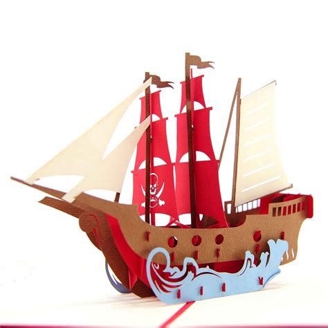 pirate ship pop up card template pirate ship sails template 27 images of pirate ship sails
