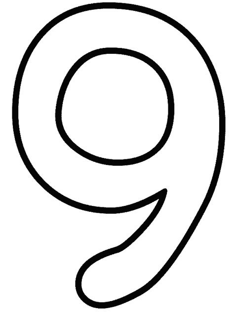 9 Free Printable Plain Numbers Coloring Pages Coloring Pages For 9 And Up