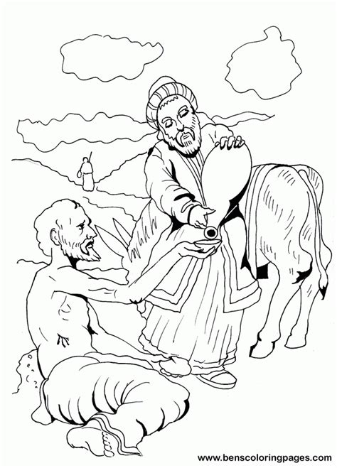 coloring page for good samaritan good samaritan coloring pages for kids coloring home