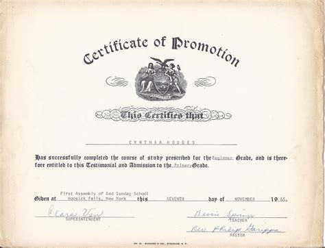 certificate of promotion template printable sunday school promotion certificates