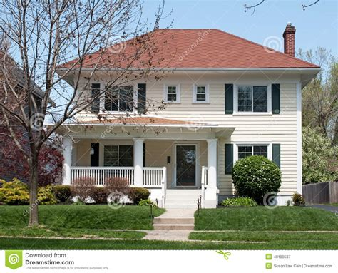 house two stories basic two story house stock photo image 40180537