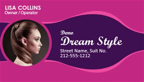 2x3 5 personalized beauty salon business card magnets 20