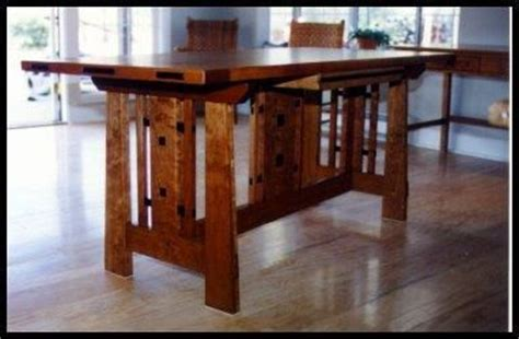craftsman style dining room table custom made craftsman style furnishings tables by heart