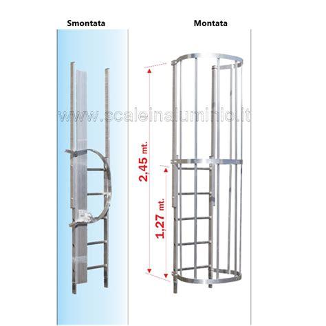 scala con gabbia scala con gabbia di protezione modulo finale tr
