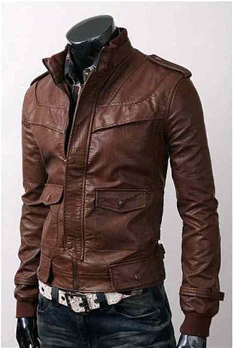 Style Korea Leather Jaket 52 mens slim fit made korean style brown leather jacket fashion 183 rangoli collection 183