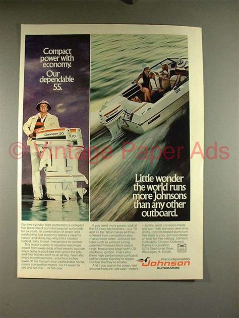 ad power motor by ddeztbikersshop 1977 johnson 55 outboard motor ad power economy