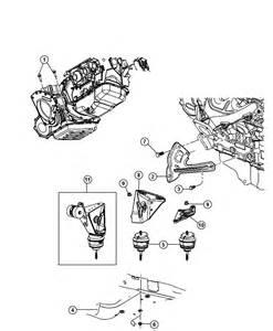 2007 Chrysler Pacifica Motor Mounts Mount Rear Engine